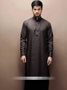 Bistre kurta shalwar suits and menswear shalwar kameez
